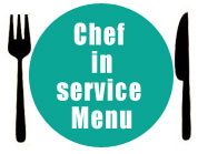 Chef in service Menu