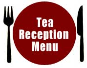 Tea Reception Menu